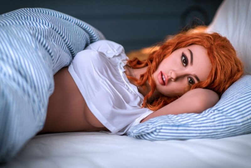 153cm b cup red hair in stock USA sex doll 6