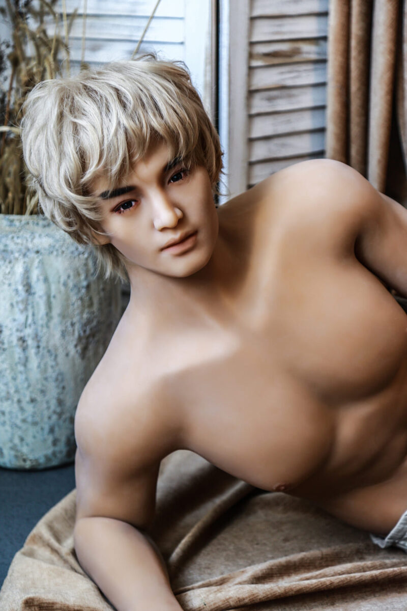175 Tang male sex doll gold hair 11
