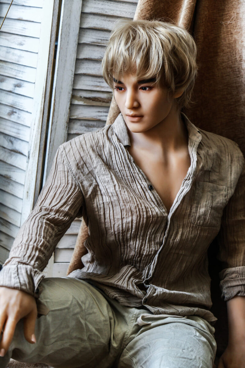 175 Tang male sex doll gold hair 3