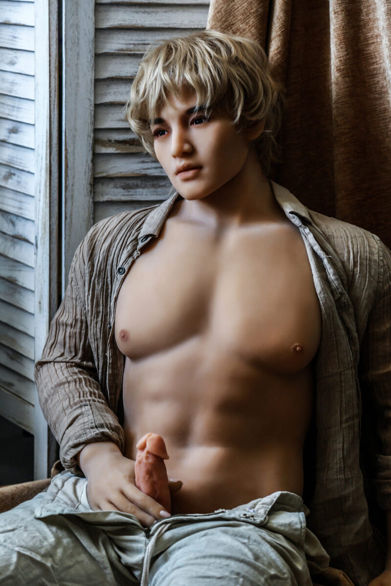 175 Tang male sex doll gold hair 4