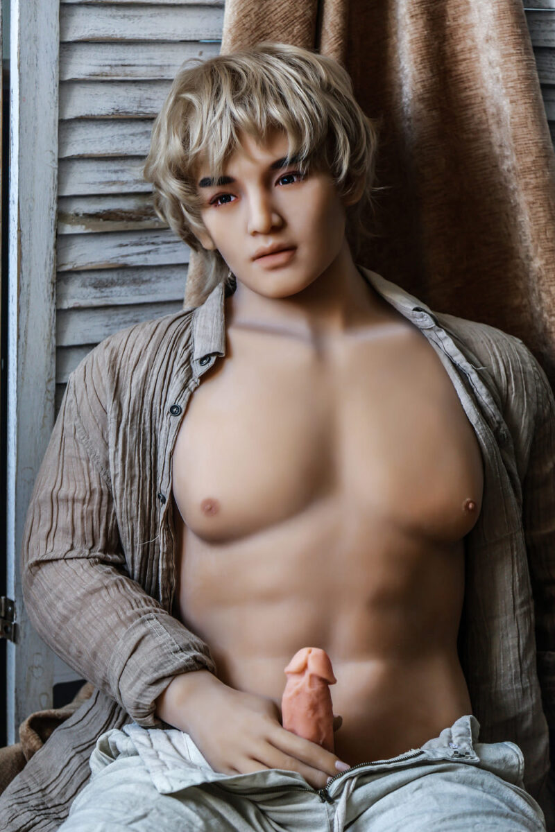 175 Tang male sex doll gold hair 5