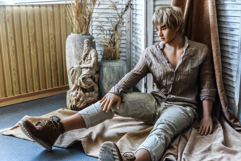 175 Tang male sex doll gold hair 7
