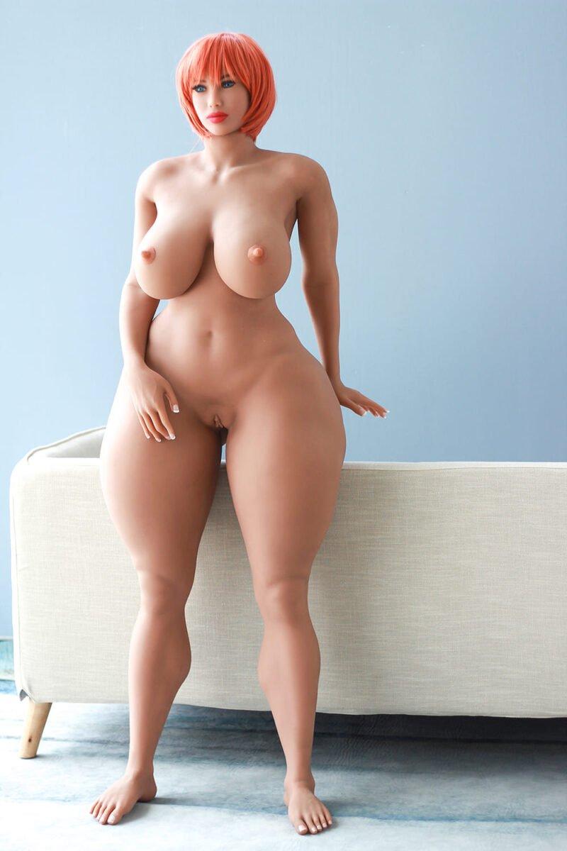 Cheap sex doll super fat curvy thick doll red hair 7