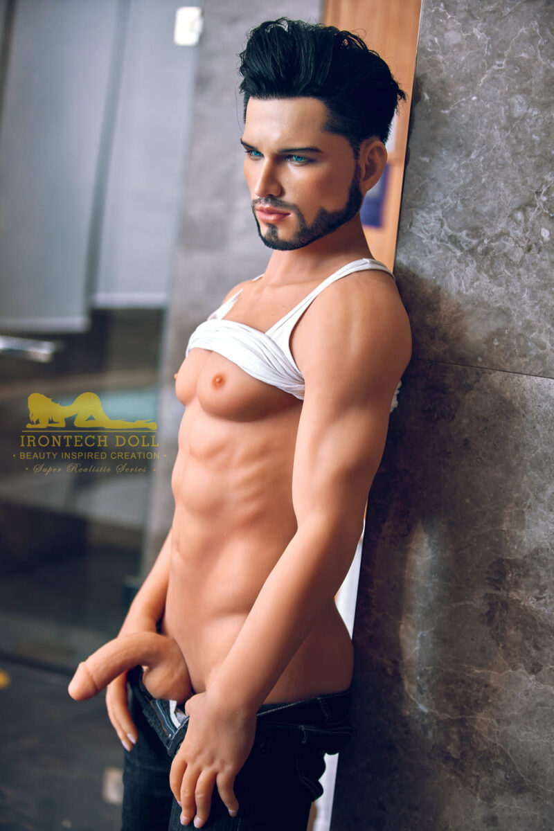 silicone male sex doll Kevin suntanned skin 10