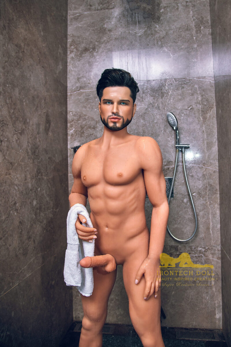 silicone male sex doll Kevin suntanned skin 12