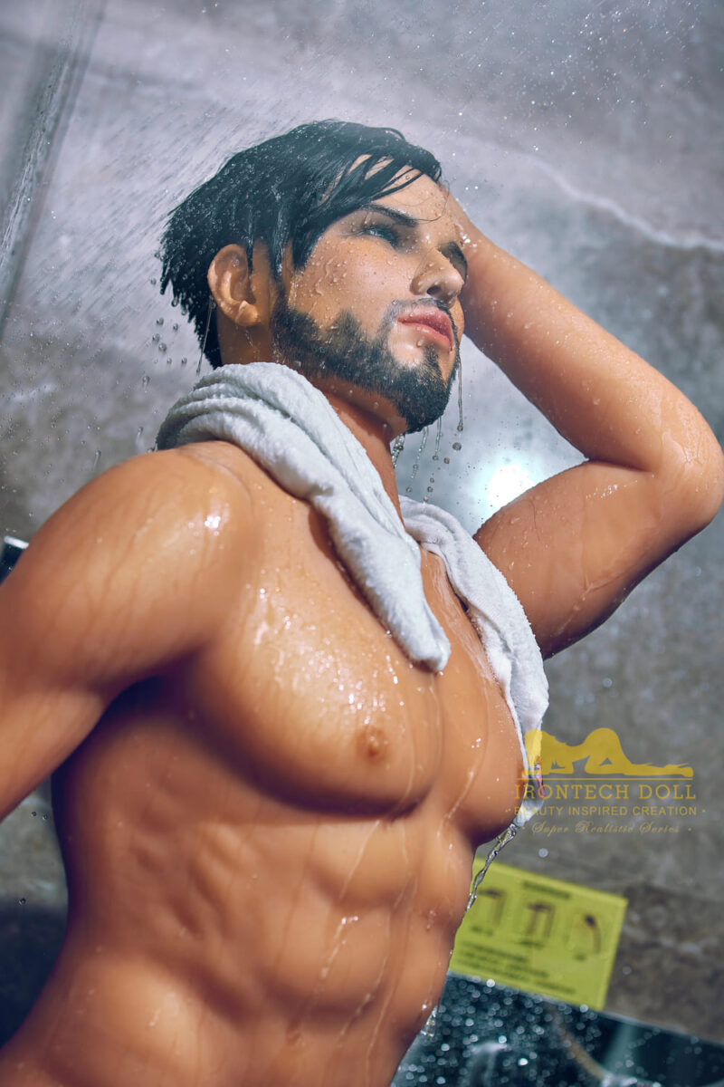 silicone male sex doll Kevin suntanned skin 14