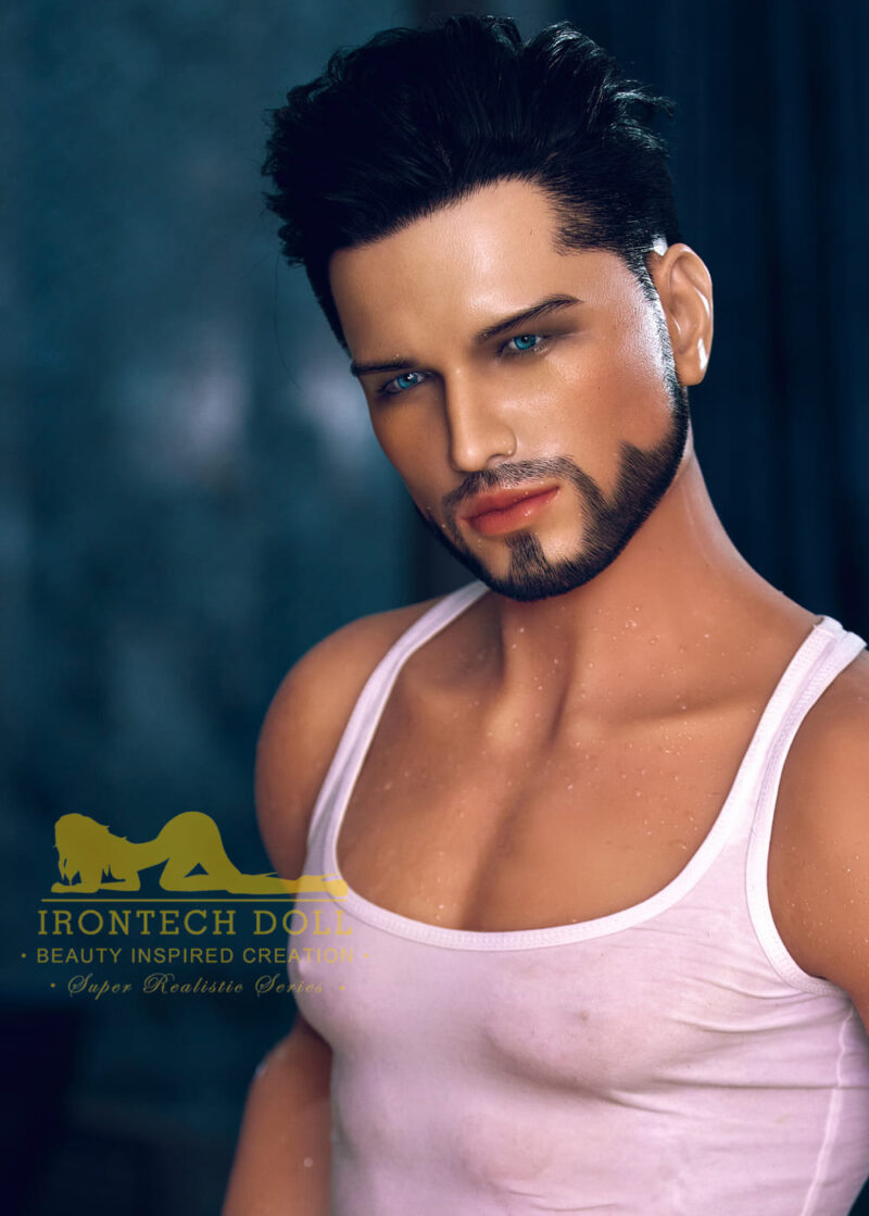 silicone male sex doll Kevin suntanned skin 8