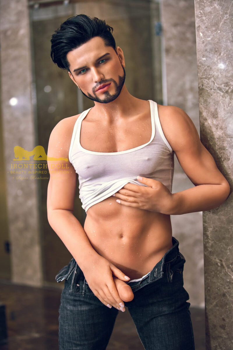 silicone male sex doll Kevin suntanned skin 9