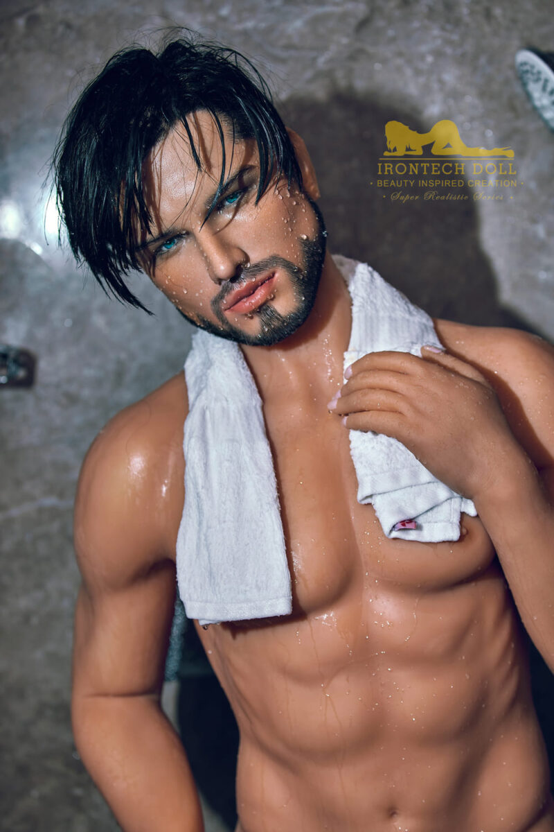 silicone male sex doll Kevin suntanned skin main