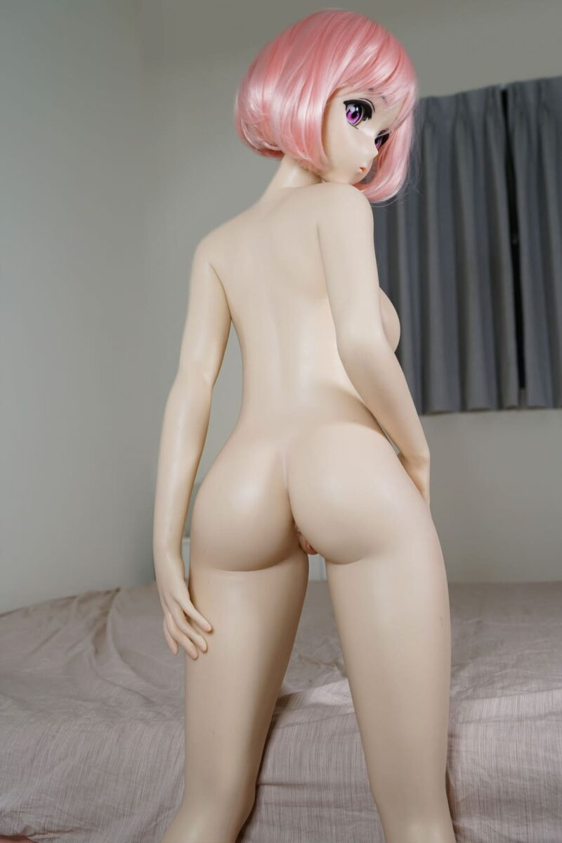 140 silicone anime sex doll red hair 6