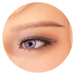 sex doll heads options-violet eyes