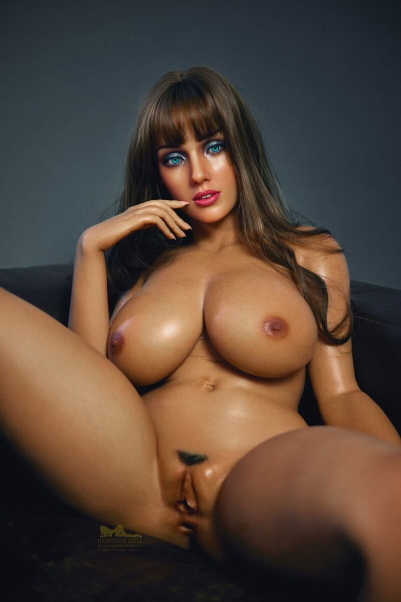 Tanned skin silicone sex doll 01