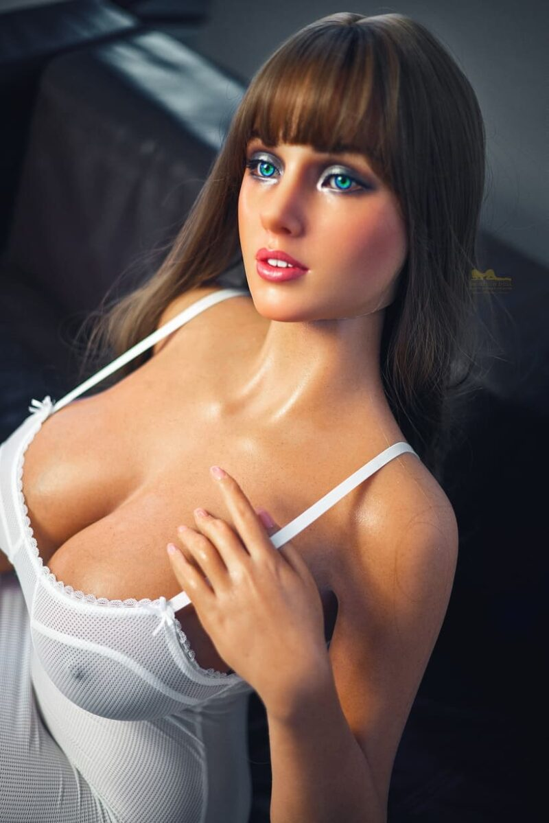 Tanned skin silicone sex doll 05