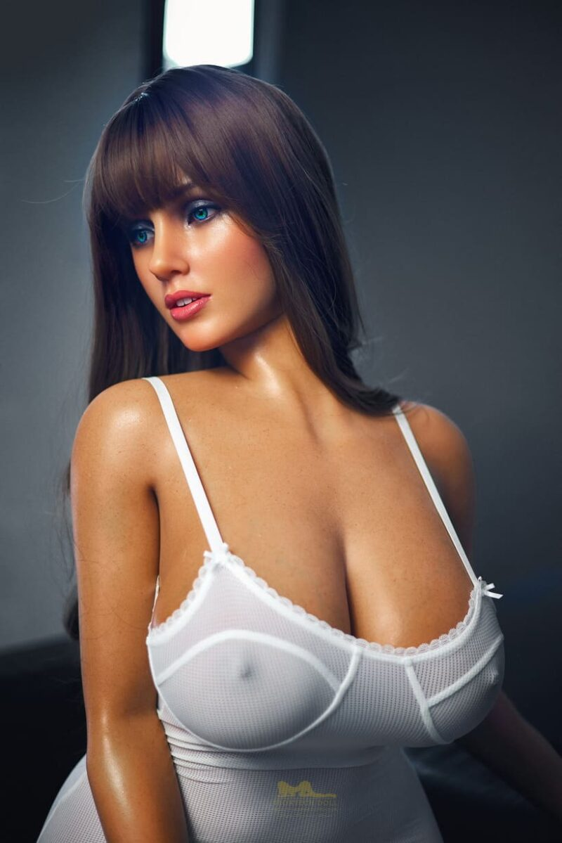 Tanned skin silicone sex doll 10
