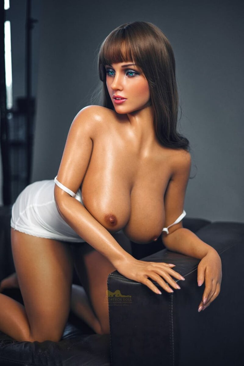 Tanned skin silicone sex doll 13