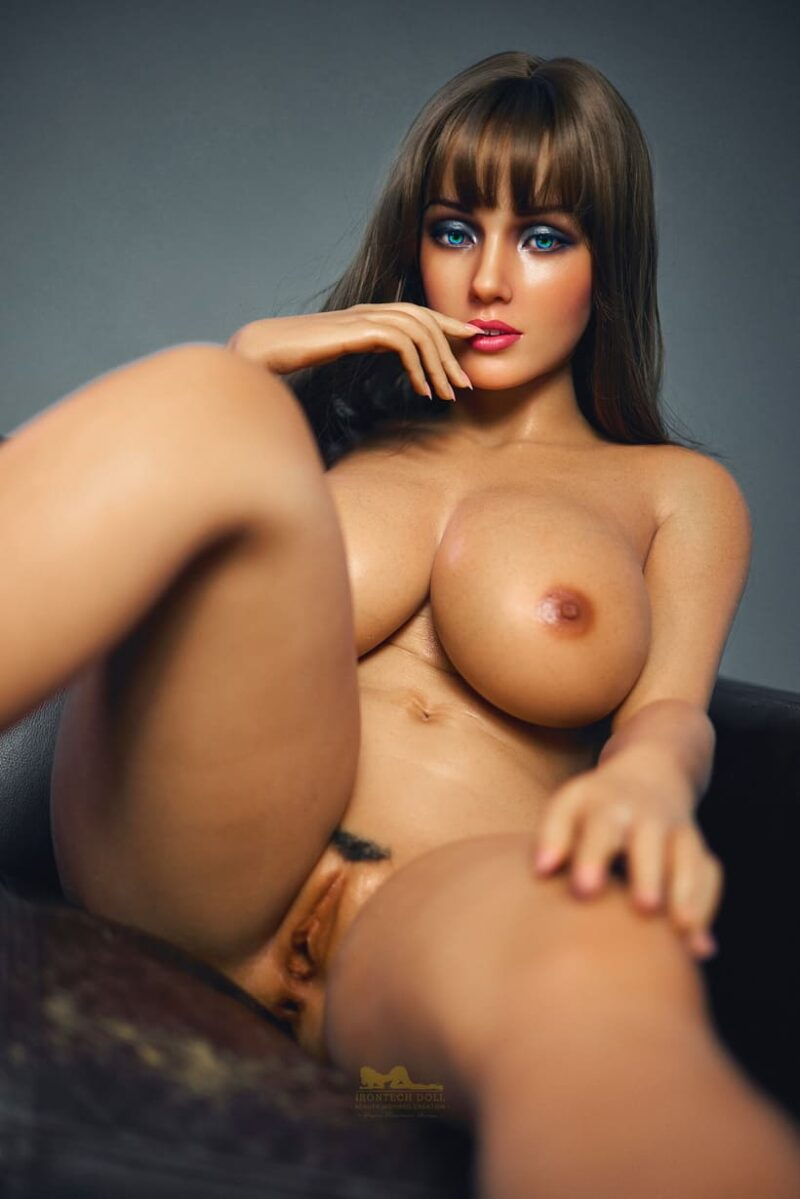 Tanned skin silicone sex doll 19