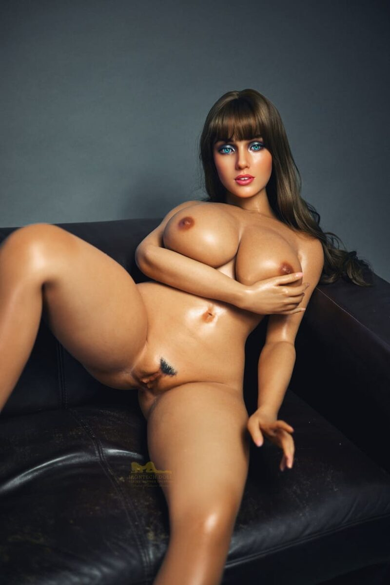 Tanned skin silicone sex doll 21