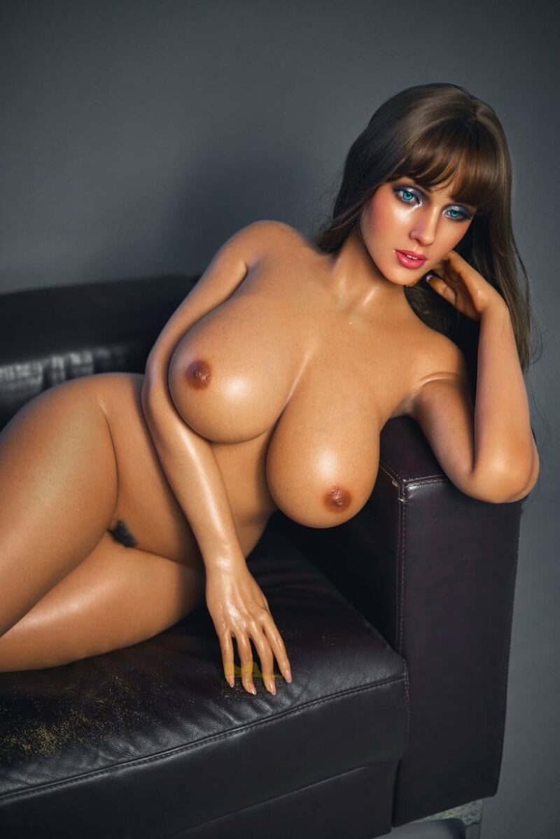 Tanned skin silicone sex doll 22