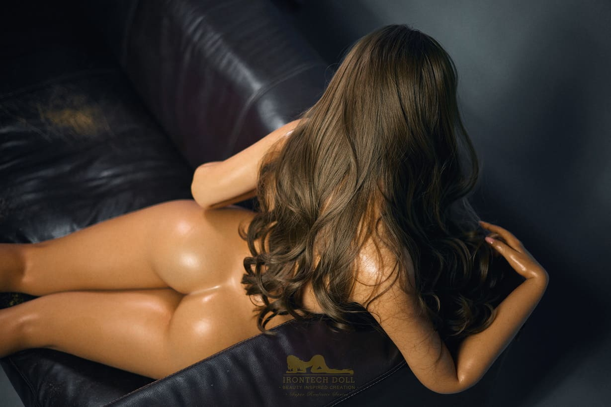 Tanned skin silicone sex doll 23