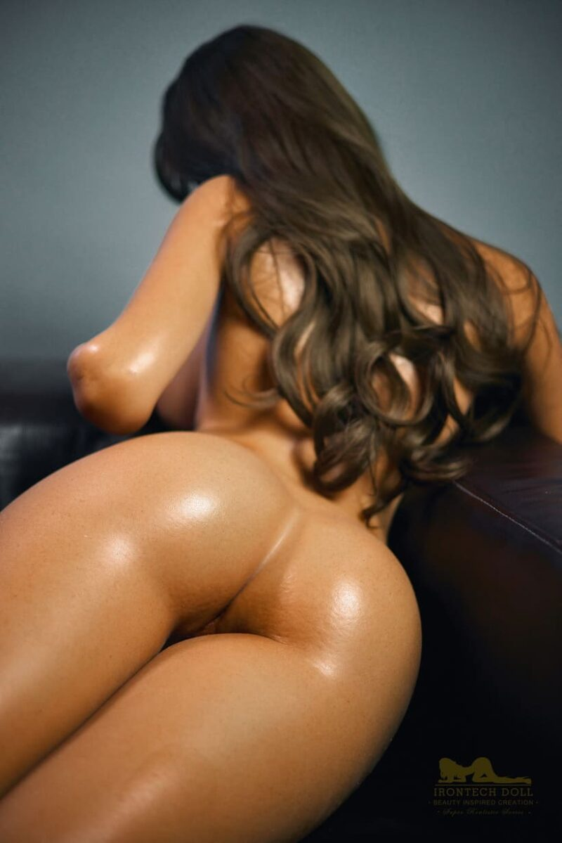 Tanned skin silicone sex doll 24