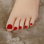 red pink Toenail Color option